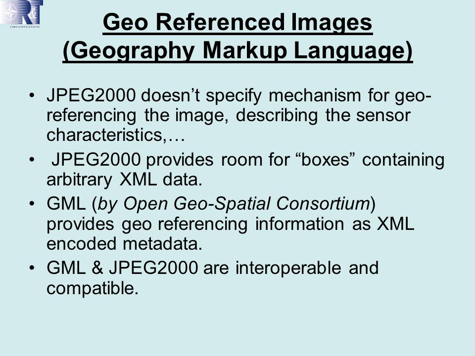 Geo Referenced Images (Geography Markup Language)