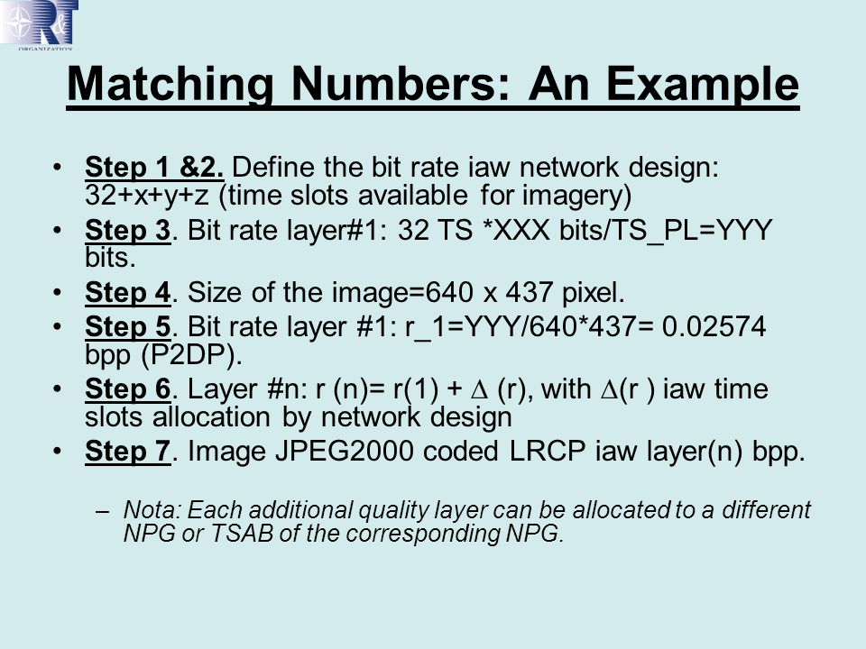 Matching Numbers: An Example