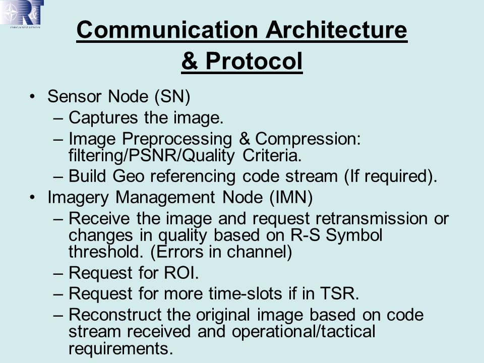 Communication Architecture & Protocol