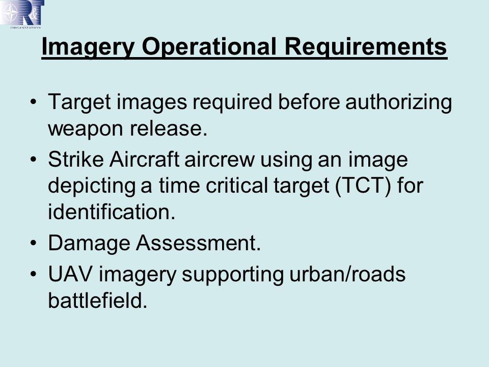 Imagery Operational Requirements