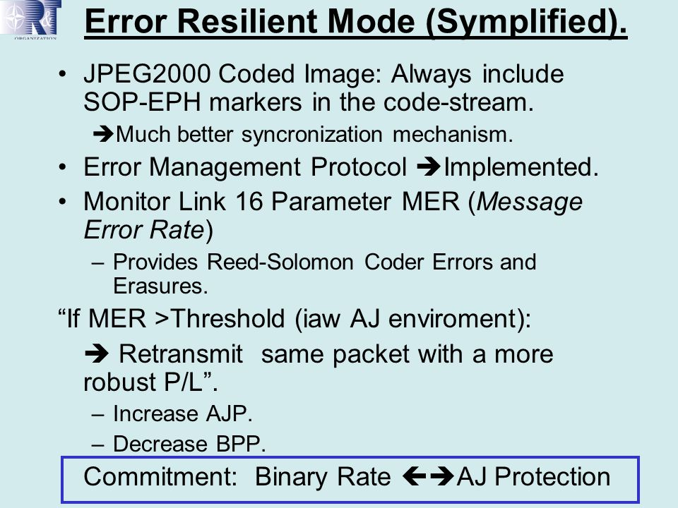 Error Resilient Mode (Symplified).