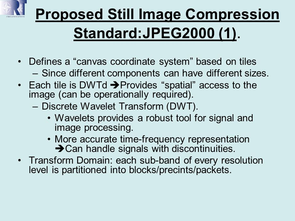 Proposed Still Image Compression Standard:JPEG2000 (1).