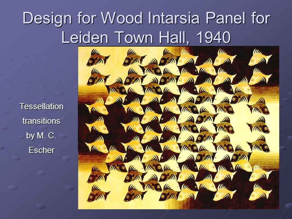 Design for Wood Intarsia Panel for Leiden Town Hall, 1940