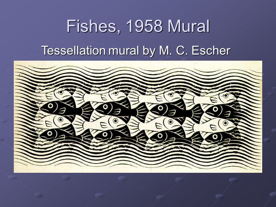 Tessellation mural by M. C. Escher