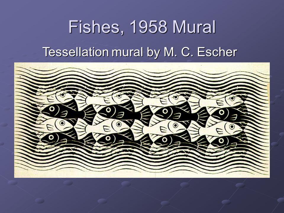 Tessellation mural by M. C. Escher