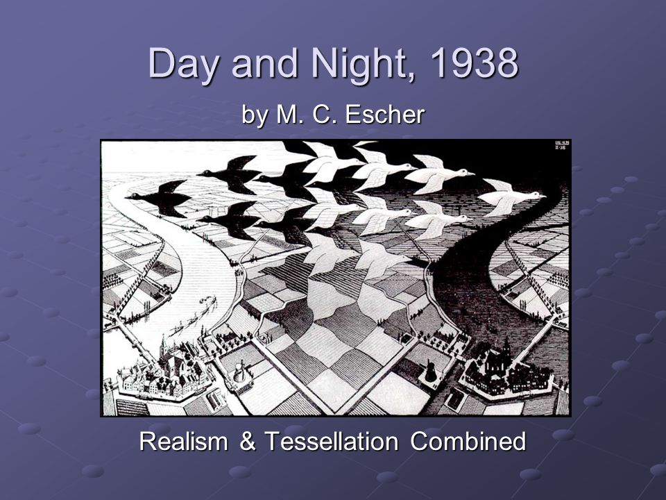 by M. C. Escher Realism & Tessellation Combined