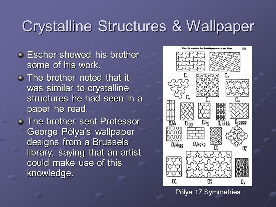 Crystalline Structures & Wallpaper