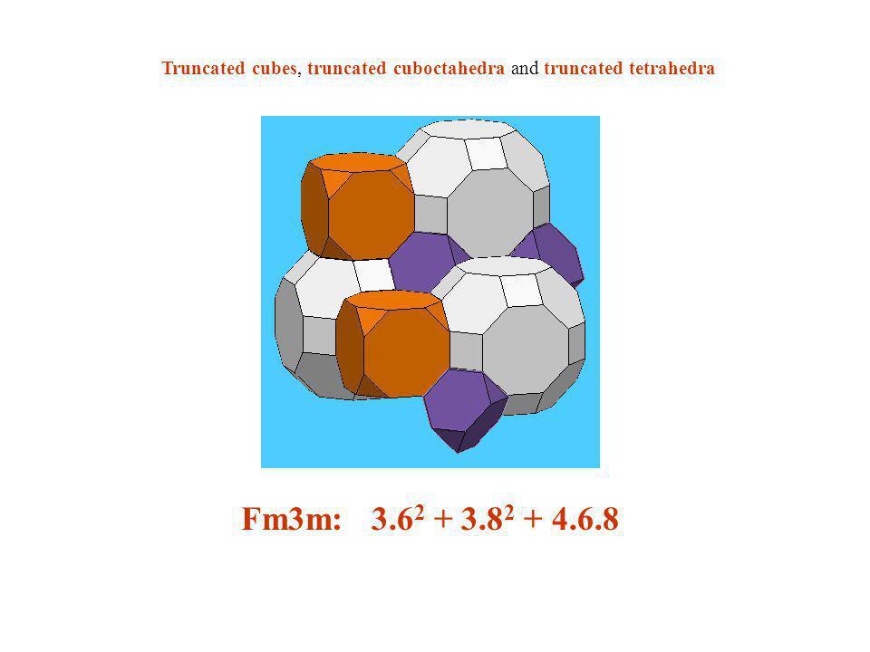 Truncated cubes, truncated cuboctahedra and truncated tetrahedra