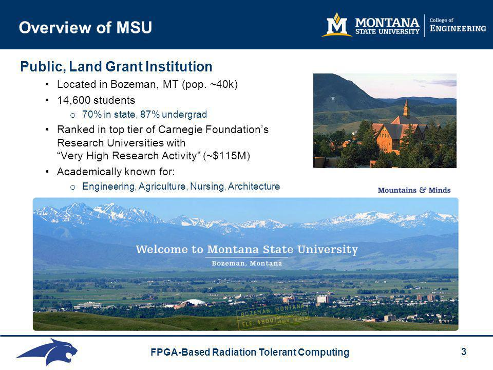 Overview of MSU Public, Land Grant Institution