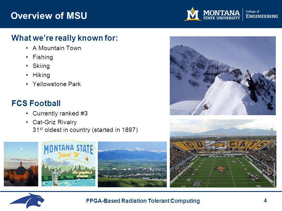 Overview of MSU What we're really known for: FCS Football