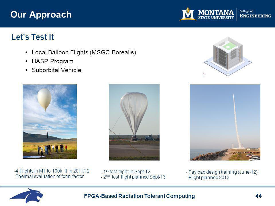 Our Approach Let's Test It Local Balloon Flights (MSGC Borealis)