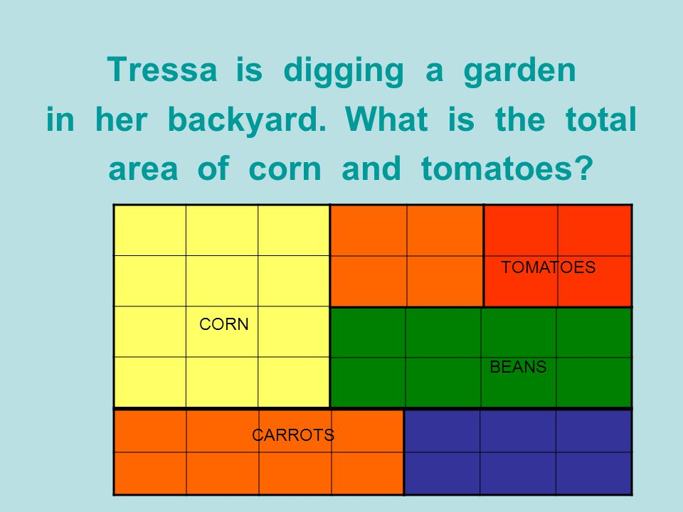 Tressa is digging a garden in her backyard. What is the total