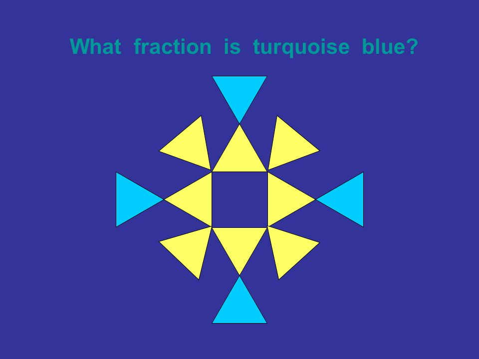 What fraction is turquoise blue