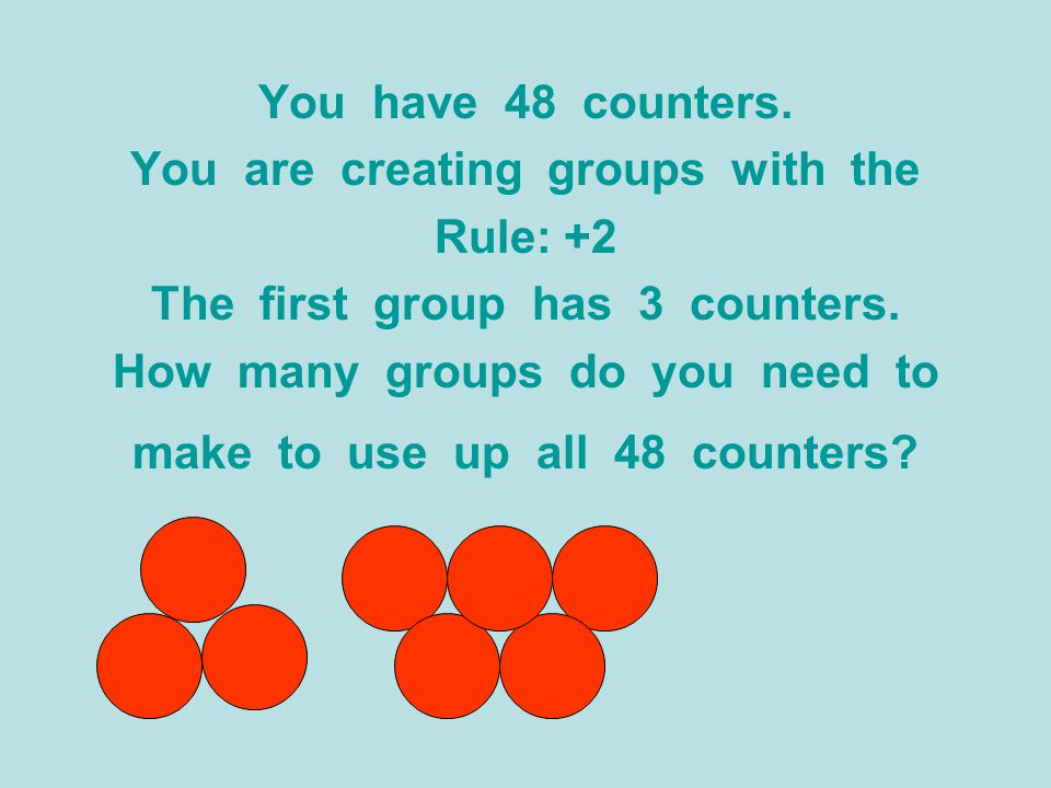 You are creating groups with the Rule: +2