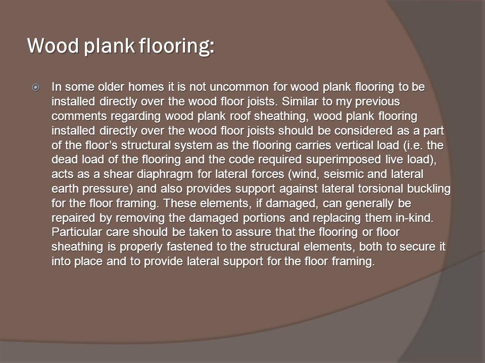 Wood plank flooring: