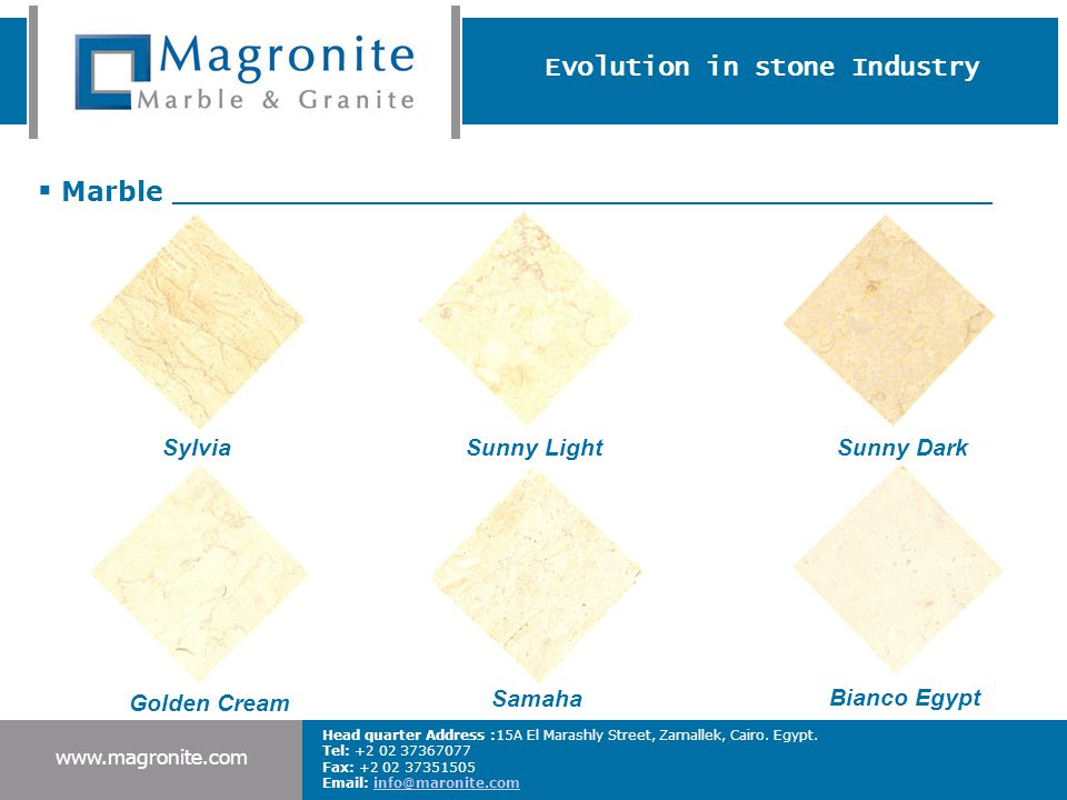 Evolution in stone Industry