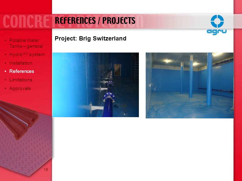 REFERENCES / PROJECTS Project: Brig Switzerland