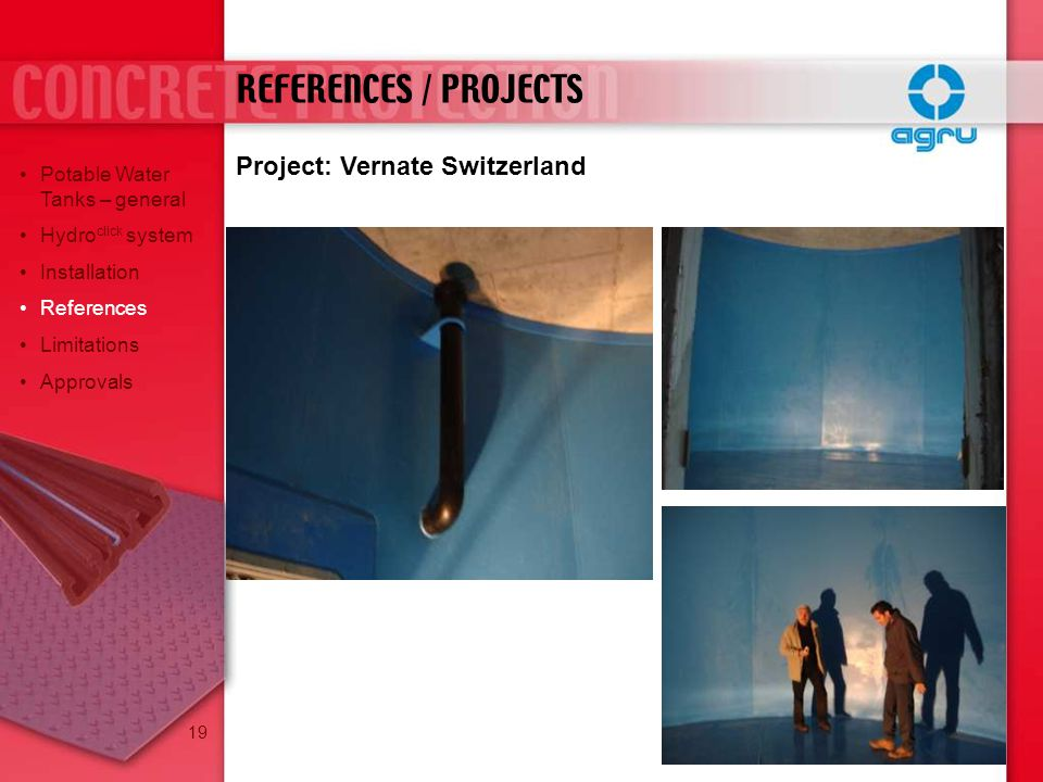 REFERENCES / PROJECTS Project: Vernate Switzerland