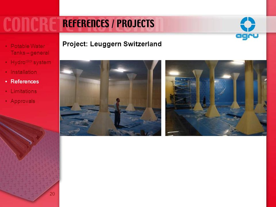 REFERENCES / PROJECTS Project: Leuggern Switzerland