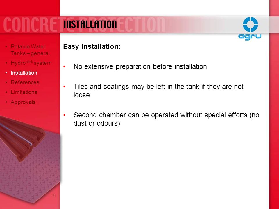 INSTALLATION Easy installation: