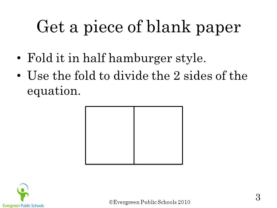 Get a piece of blank paper