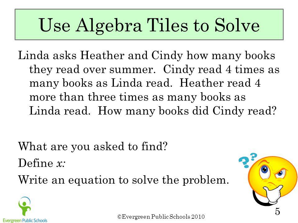Use Algebra Tiles to Solve