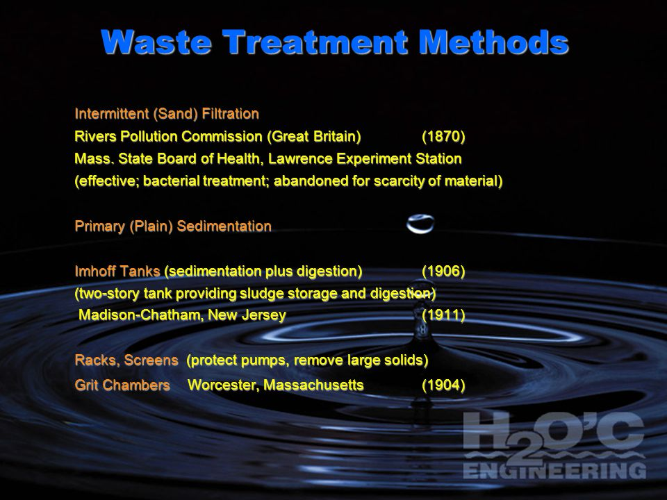 Waste Treatment Methods