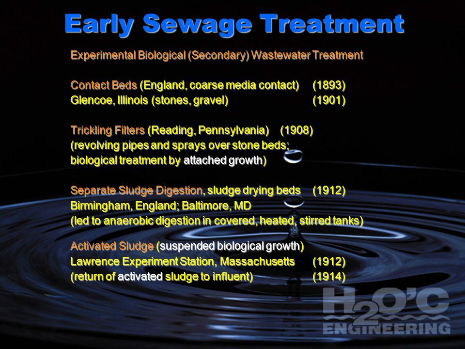 Early Sewage Treatment