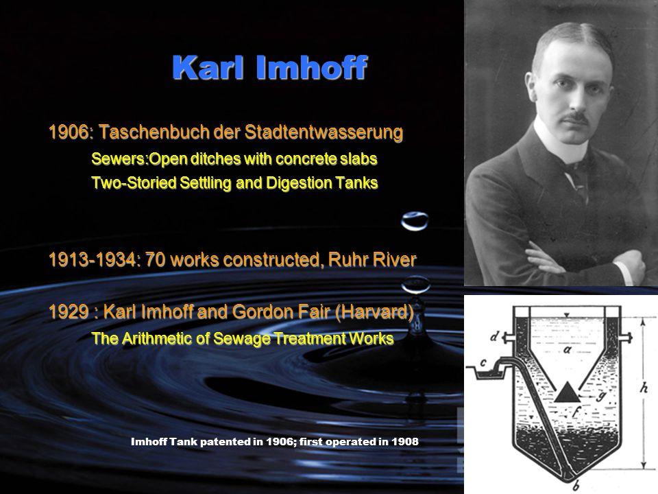Karl Imhoff 1906: Taschenbuch der Stadtentwasserung