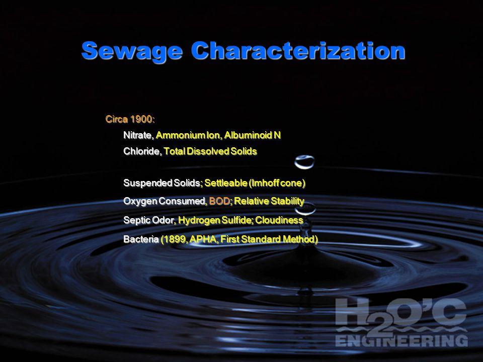 Sewage Characterization