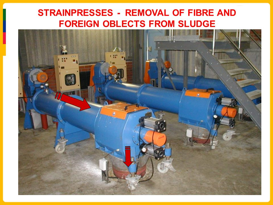 STRAINPRESSES - REMOVAL OF FIBRE AND FOREIGN OBLECTS FROM SLUDGE