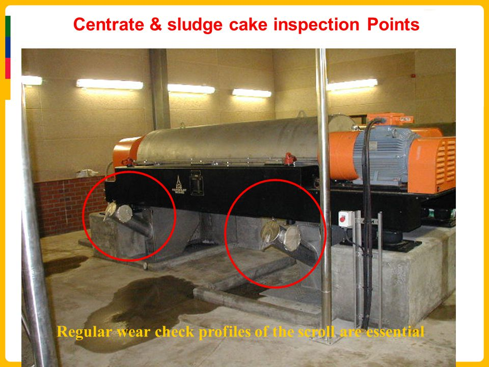 Centrate & sludge cake inspection Points