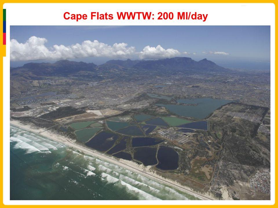 Cape Flats WWTW: 200 Ml/day