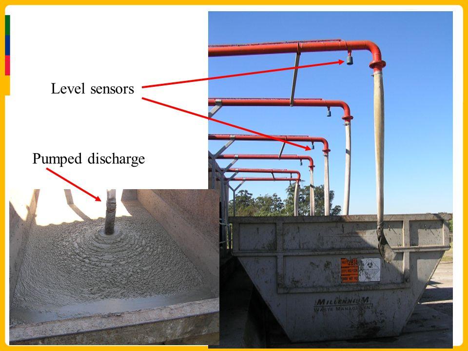 Level sensors Pumped discharge