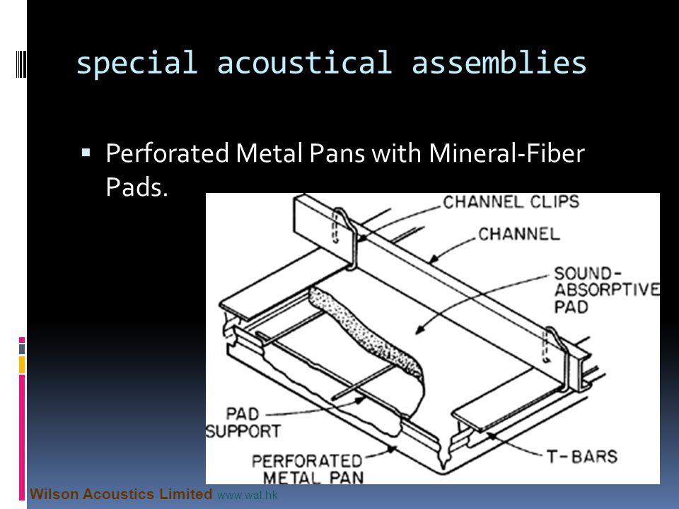 special acoustical assemblies