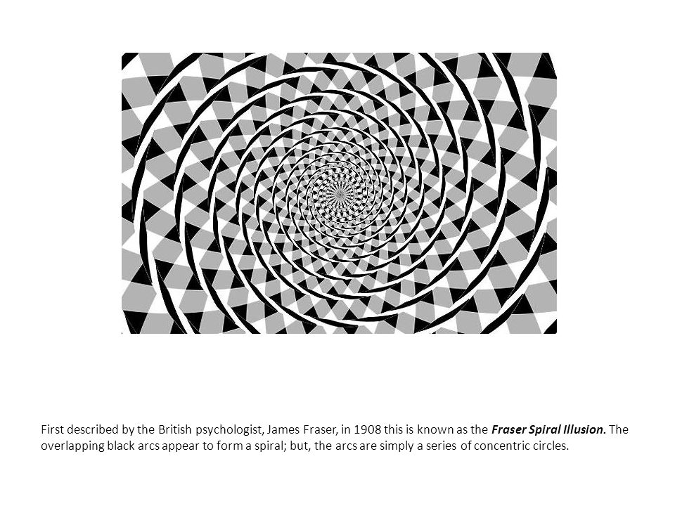 First described by the British psychologist, James Fraser, in 1908 this is known as the Fraser Spiral Illusion.