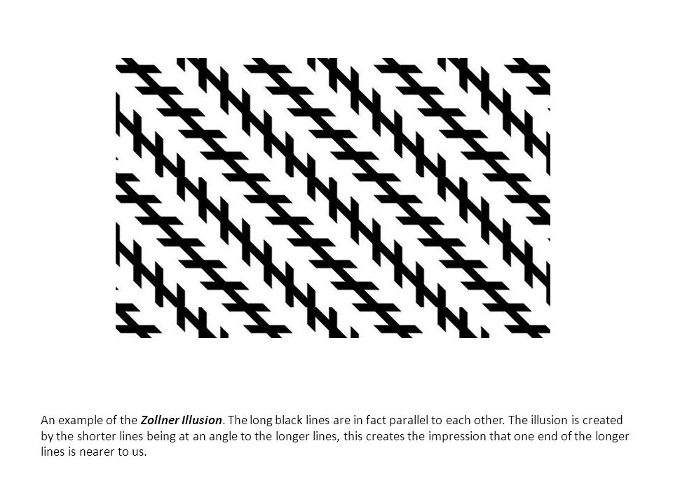 An example of the Zollner Illusion