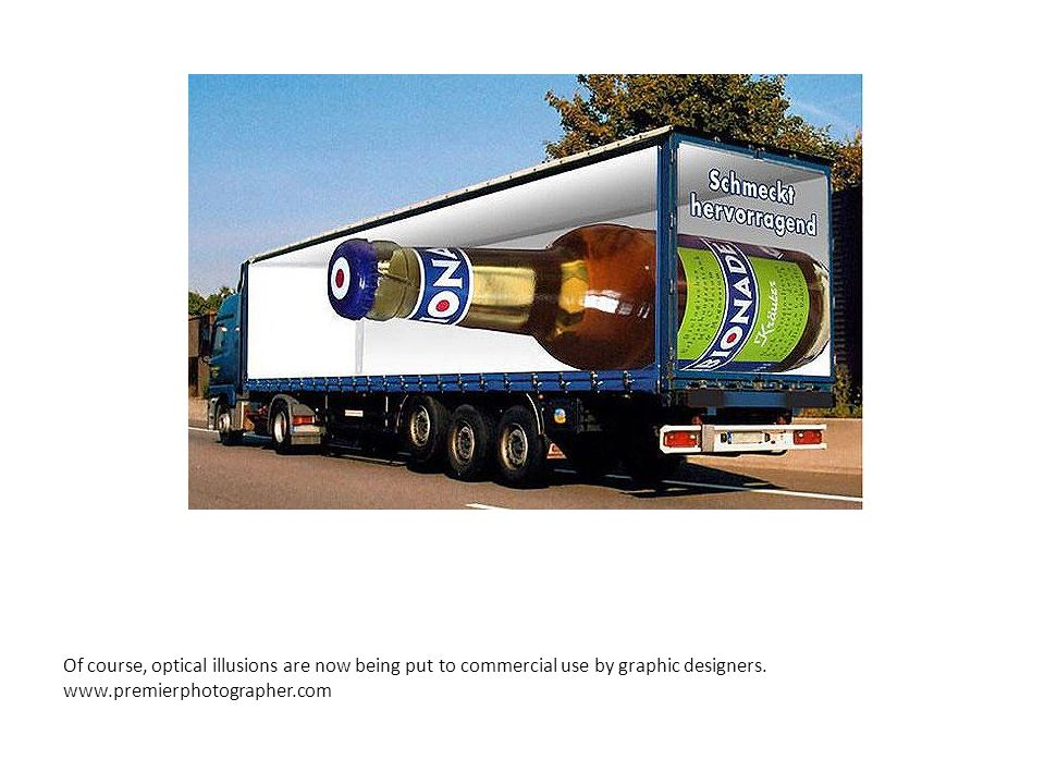 Of course, optical illusions are now being put to commercial use by graphic designers.