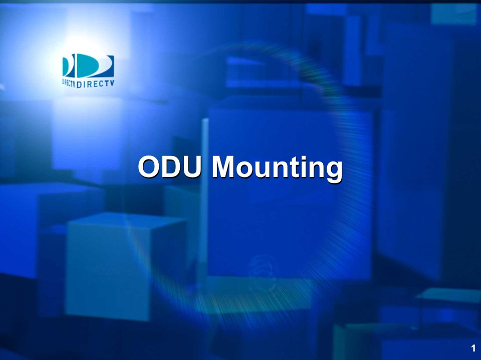 ODU Mounting   Change Slide