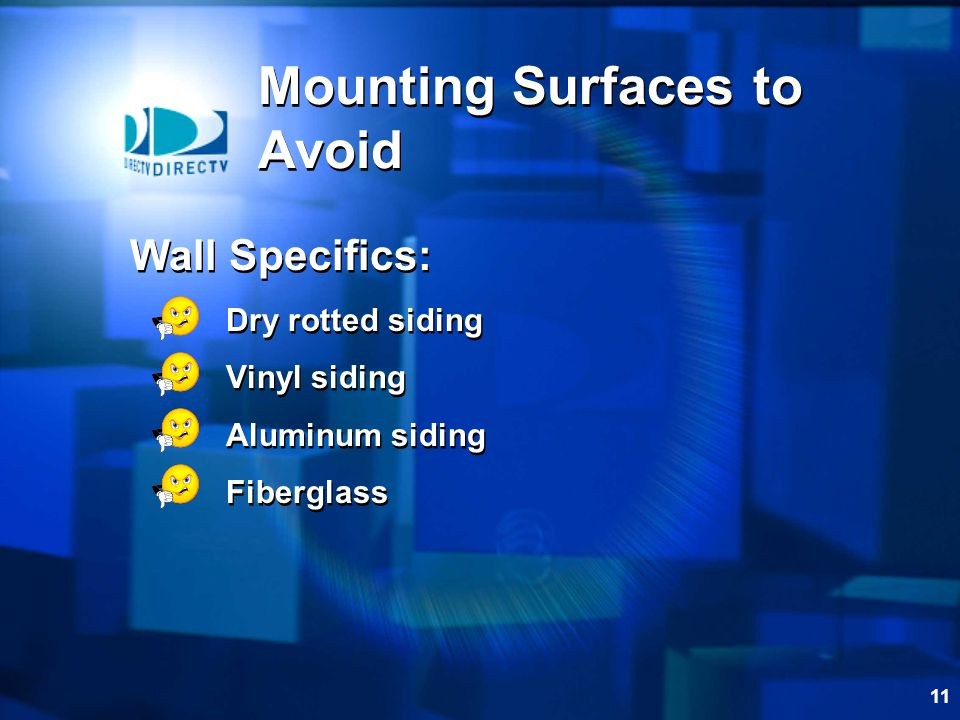 Mounting Surfaces to Avoid