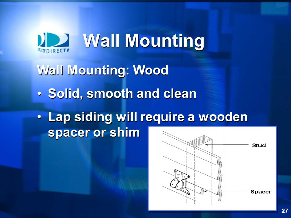 Wall Mounting Wall Mounting: Wood Solid, smooth and clean