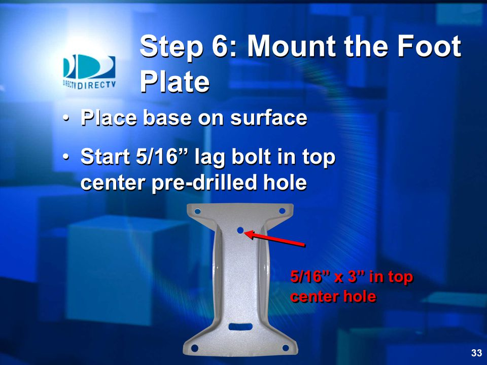 Step 6: Mount the Foot Plate