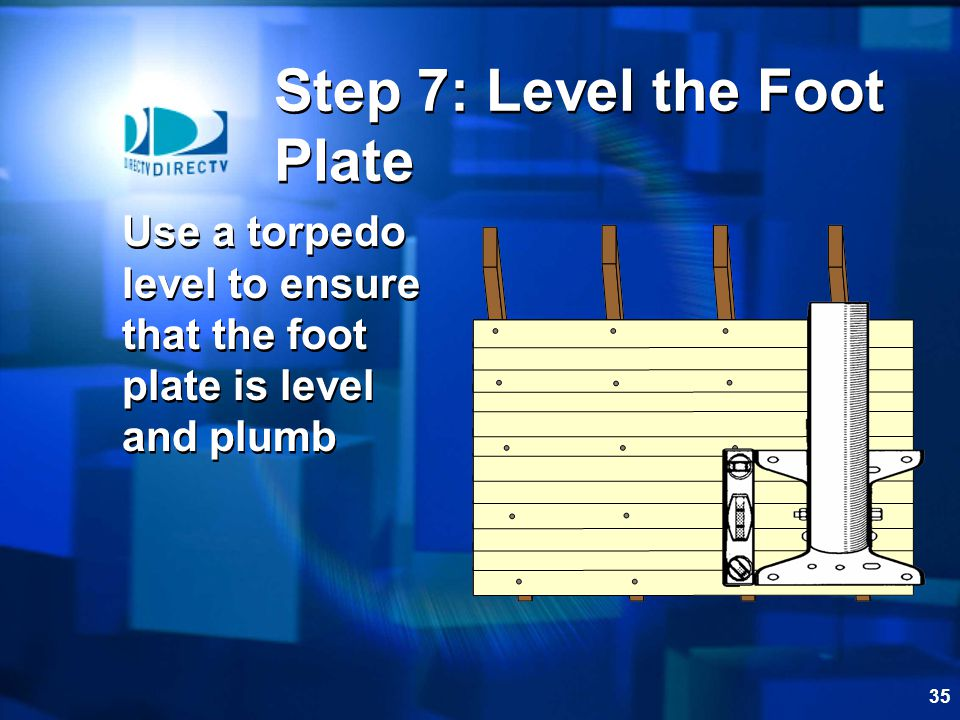 Step 7: Level the Foot Plate