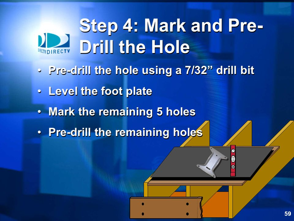 Step 4: Mark and Pre-Drill the Hole