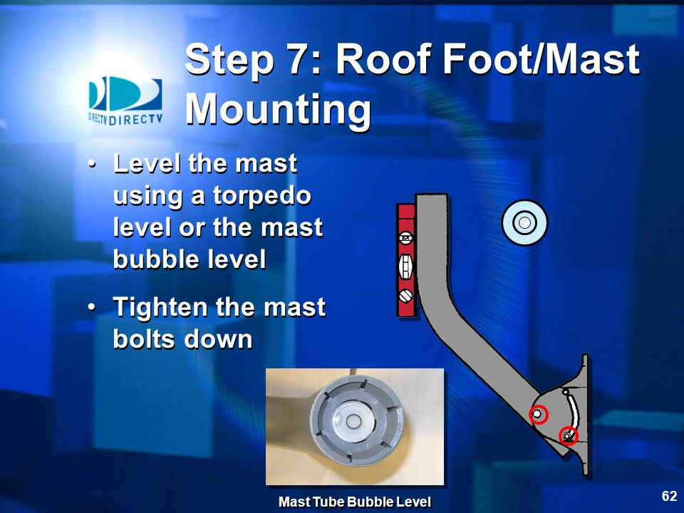 Step 7: Roof Foot/Mast Mounting