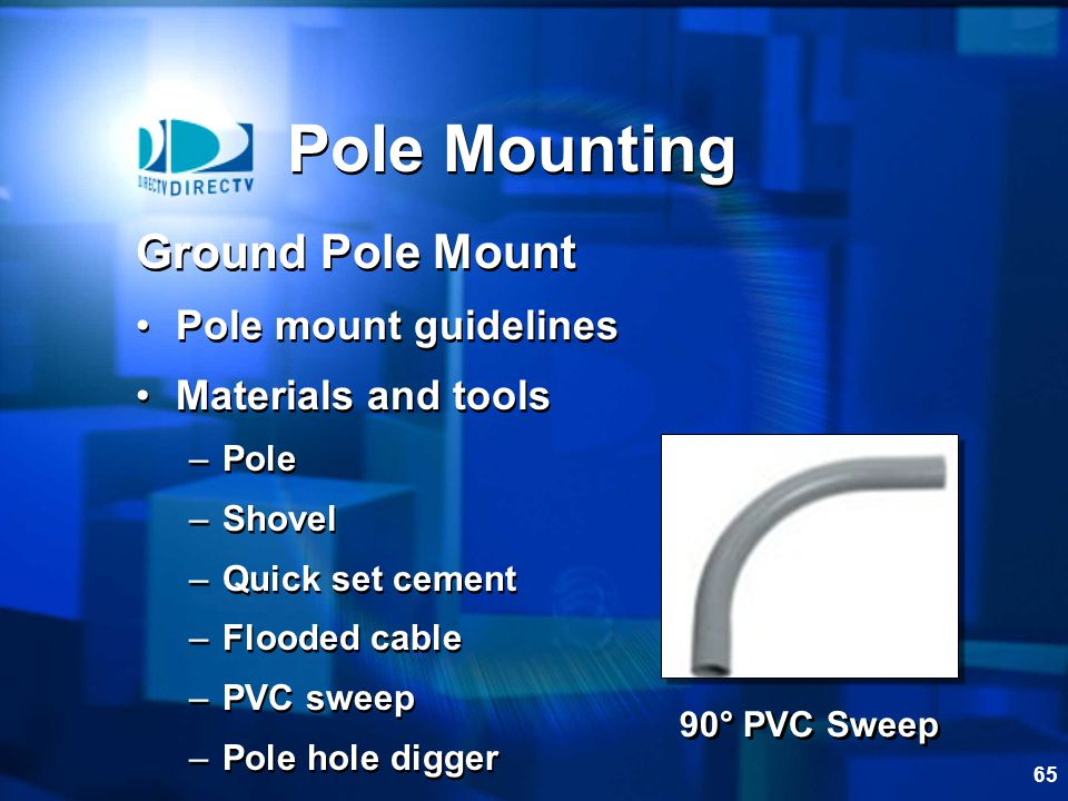 Pole Mounting Ground Pole Mount Pole mount guidelines