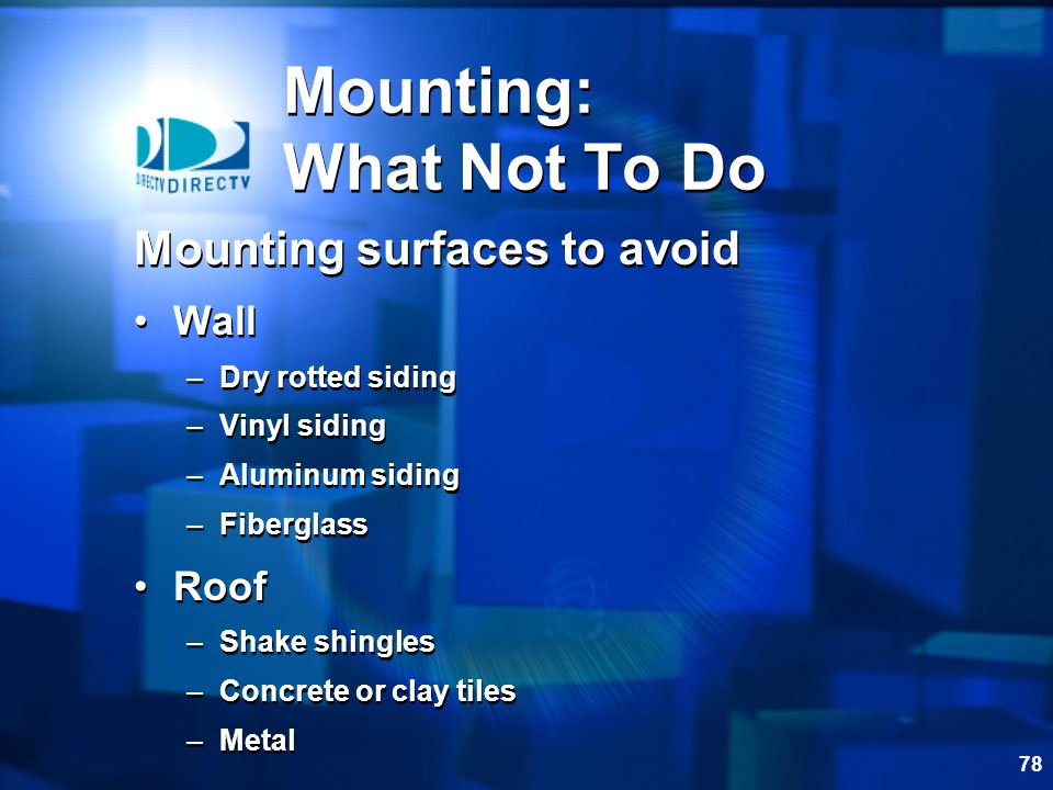 Mounting: What Not To Do