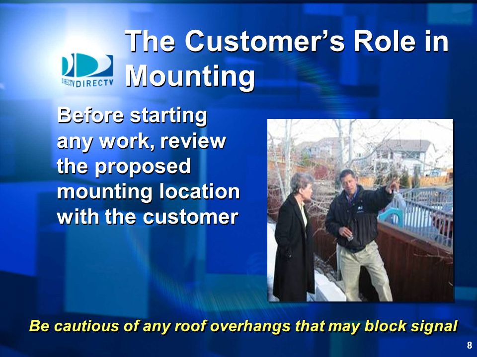 The Customer's Role in Mounting