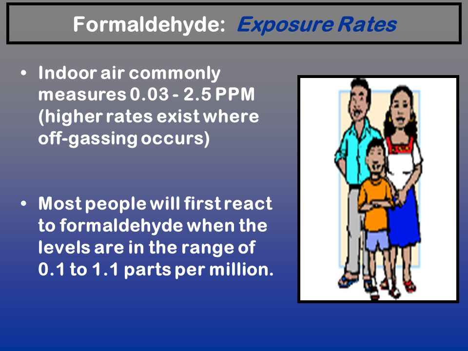 Formaldehyde: Exposure Rates