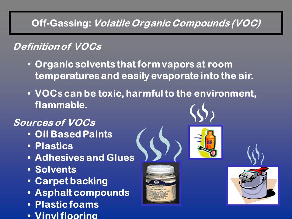 Off-Gassing: Volatile Organic Compounds (VOC)